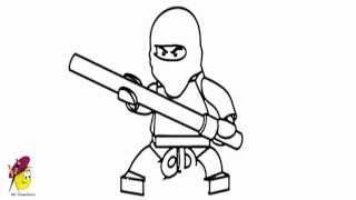 How to draw Kai Ninjago from Lego Ninjago