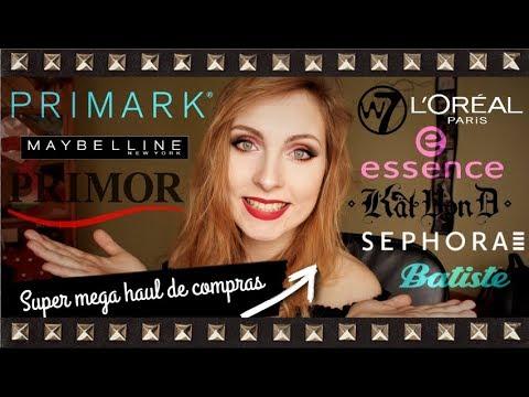 Super Mega HAUL de COMPRAS de maquillaje: PRIMARK, PRIMOR... || Sweet S Channel ♥