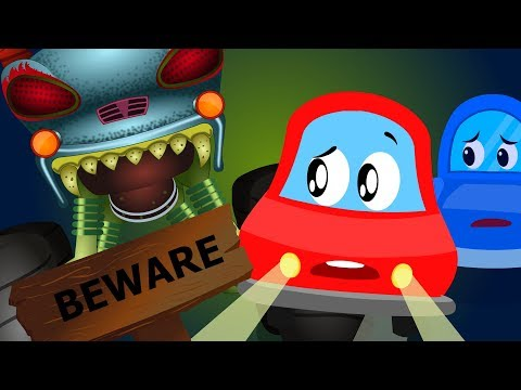 Beware Of The Dark   Little Red Car Cartoons   Nursery Rhymes For Toddlers   Kids Channel