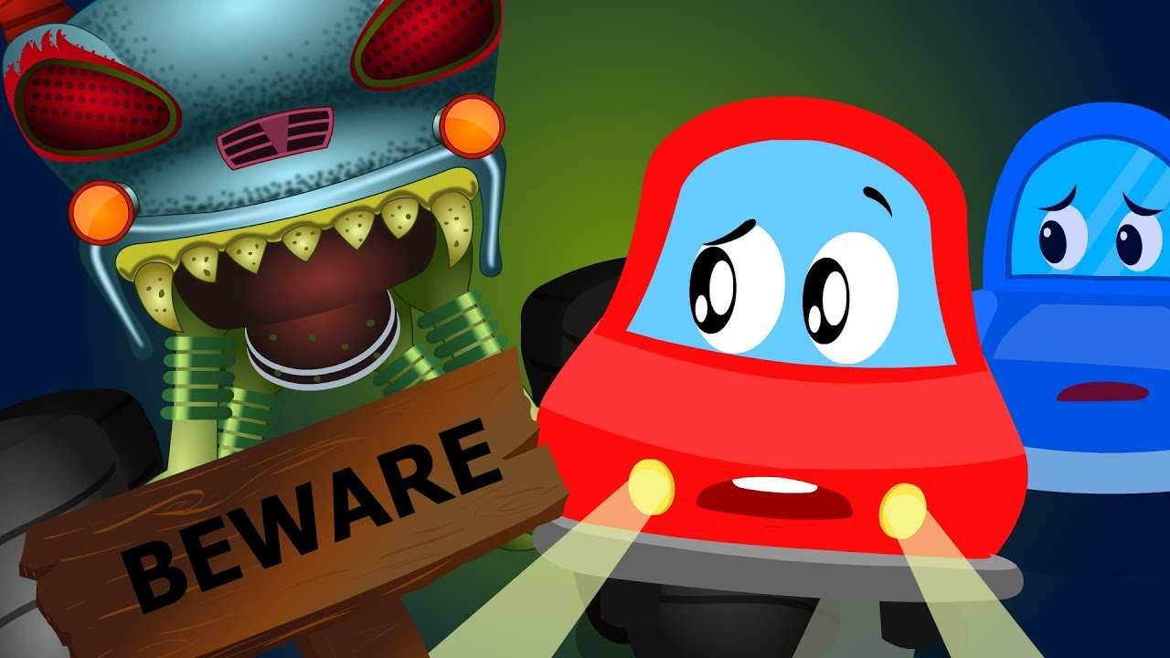 Beware Of The Dark | Little Red Car Cartoons | Nursery Rhymes For Toddlers | Kids Channel