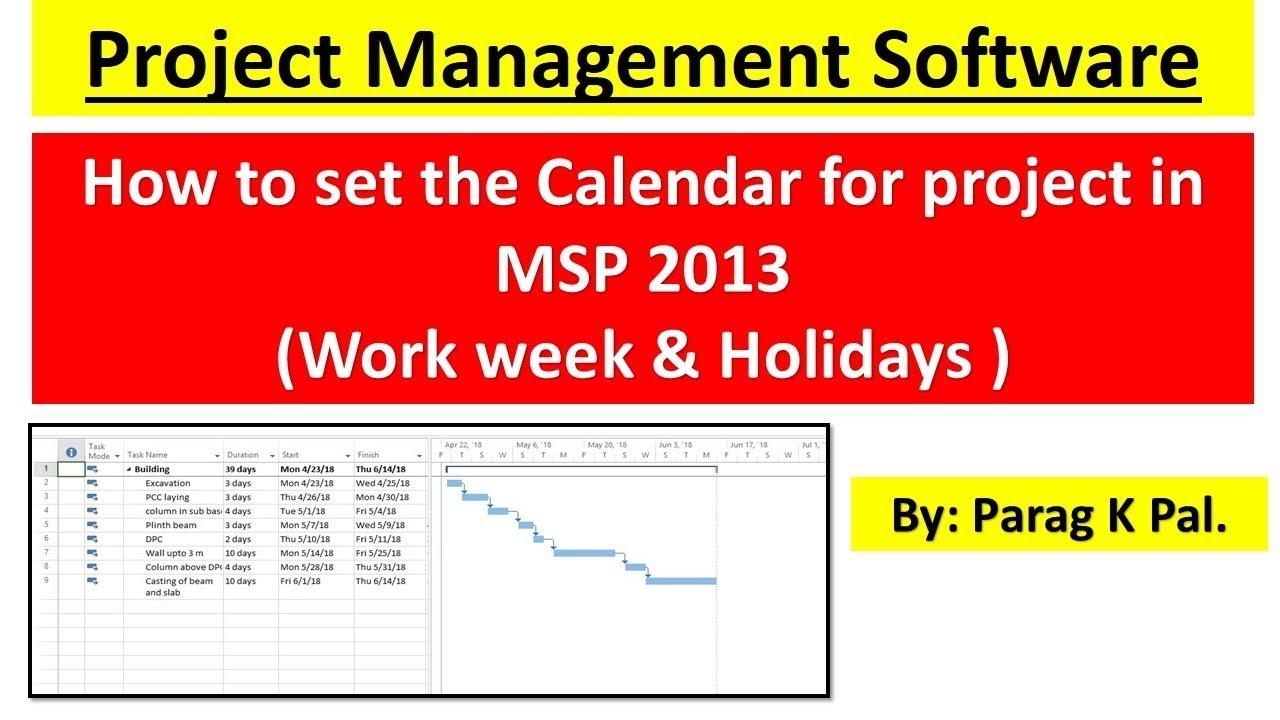 work week calendar 2018