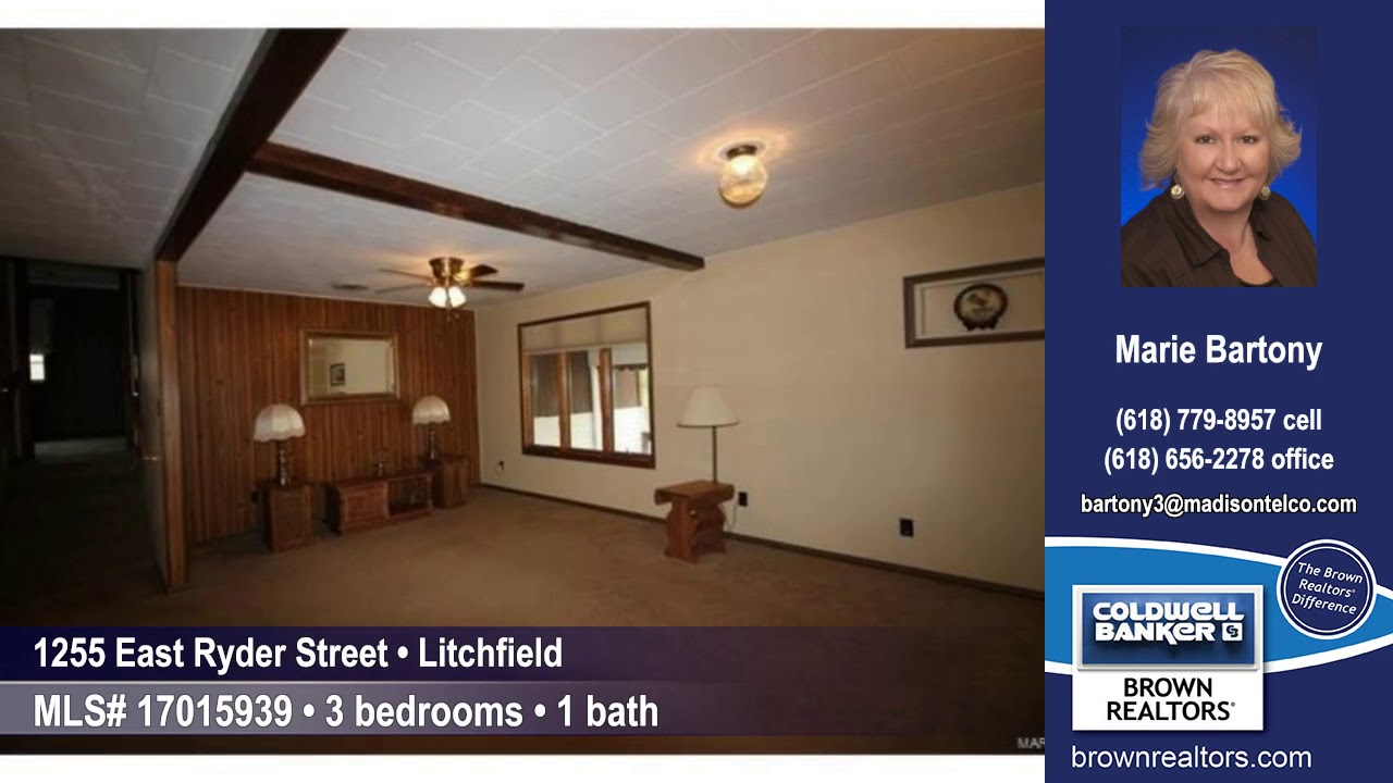 1255 East Ryder Street, Litchfield, IL 62056 $74,900 Home for Sale ...