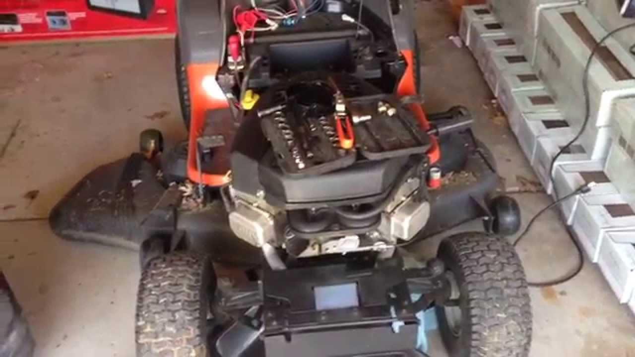 husqvarna yth2348 lawn tractor [ 1280 x 720 Pixel ]