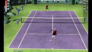 Top Spin 2 (PC) - Federer x Roddick (first set) Game Play