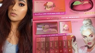 TooFaced Sweet Peach Collection Makeup Tutorial + Swatches! + Giveaway