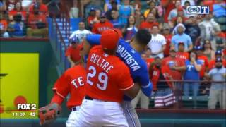 Rougned Odor Punches Jose Bautista Right In The Face