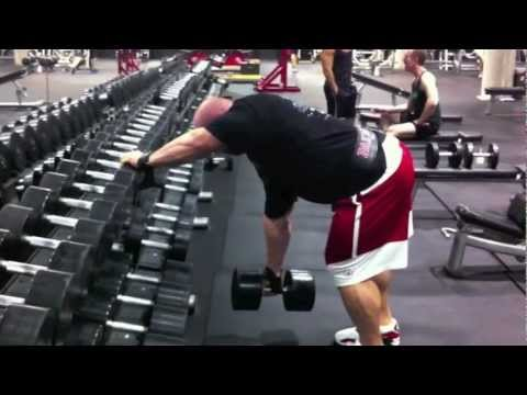Ben Pakulski Back Workout With Heavy Dumbbell Rows NOS
