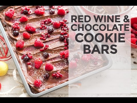 Red Wine and Chocolate Cookie Bars