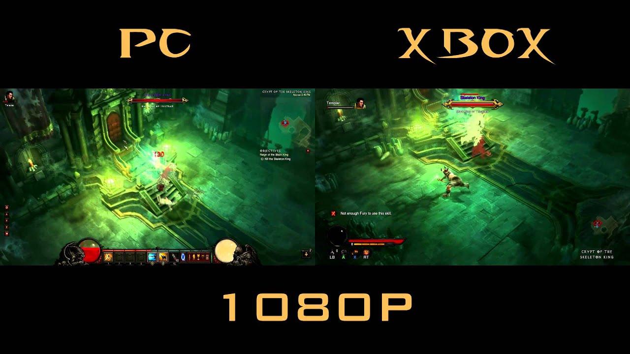 Diablo 3 Xbox 360 Vs Pc Skeleton King Comparison Side By