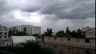 Time Lapse w2 2016.5.20 Kiev Ukraine Clouds with Rain