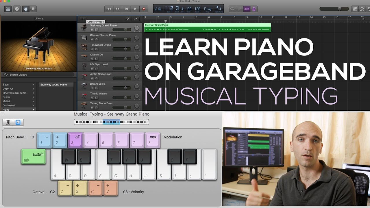 Garageband Na Pc Learn To Play Piano On Garageband 1 How To Play Music With Your Computer Keyboard