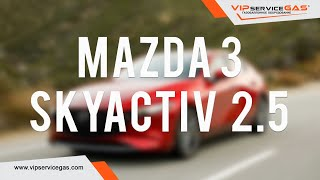 Гбо на Mazda 3 skyactiv 2.5 2014 и расход бензина 1л на 100км! Газ на Мазду Скайактив.