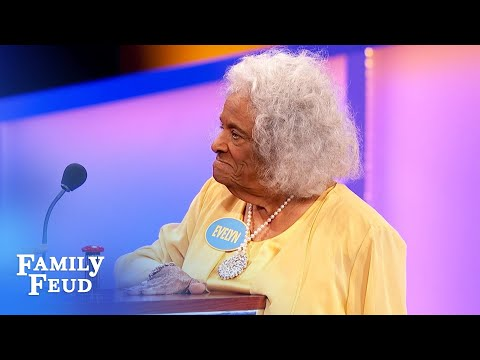 WOW! 95 - year-old Evelyn NAILS the #1 answer!   Family Feud