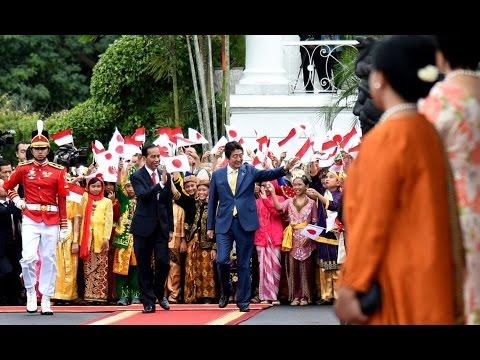 Kemeriahan Istana Bogor sambut PM Jepang, Shinzo Abe : Terkesan Ide Presiden jokowi