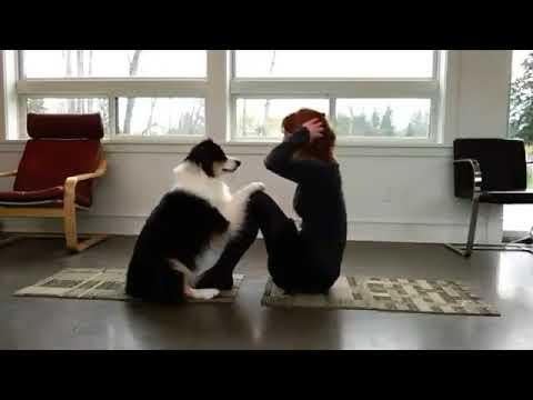 Yoga with a Dog - Mary & Secret