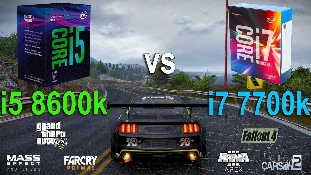 i5 8600k vs i7 7700k Test in 6 Games - YouTube