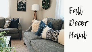 2018 FALL DECOR HAUL!  | HOBBY LOBBY + HOME GOODS ETC | PILLOW COVERS