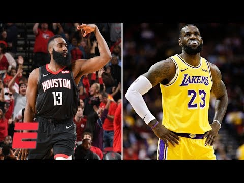 James Harden goes for 50 in Rockets' win, LeBron James scores 29 in loss | NBA Highlights