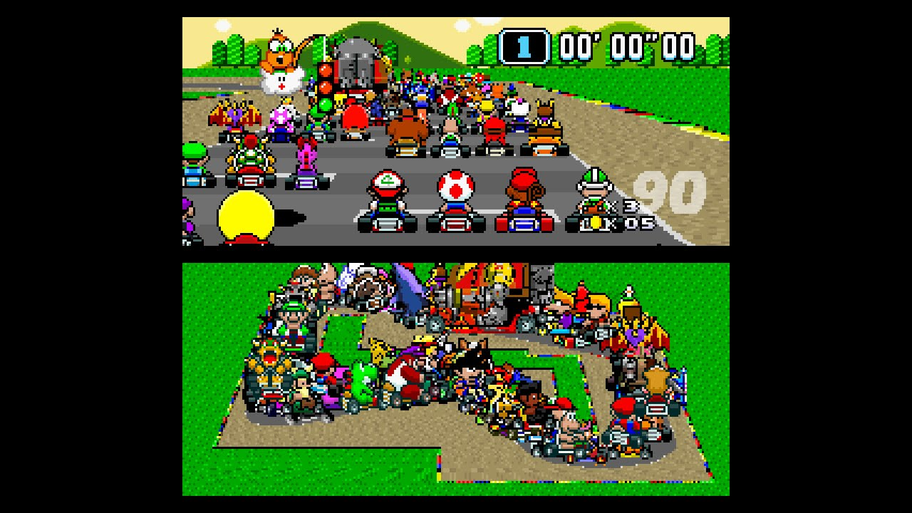 Mario Kart 'hacked' to have 101 players - Geek com