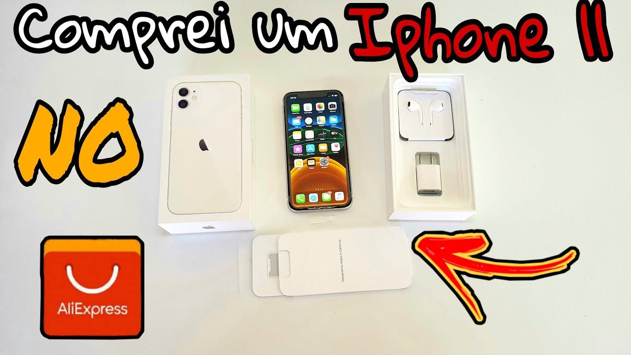 Comprei um IPHONE 11 no ALIEXPRESS | Será que deu bom? Unboxing de Iphone!