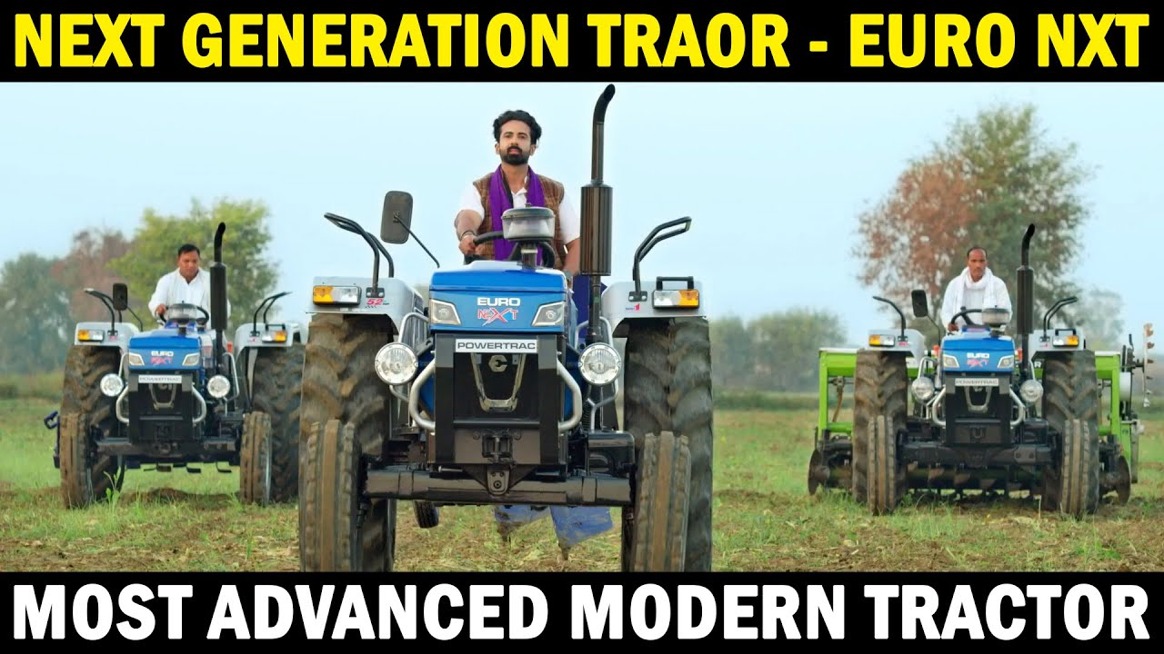 New Tractor Model 2021 | Powertrac Euro 50 Next | Powerful Tractor in India | New Tractor Video
