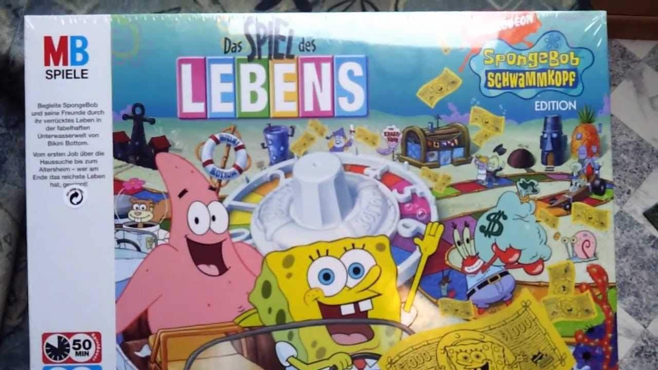 Spiel Des Lebens Spongebob Edition Unboxing Youtube