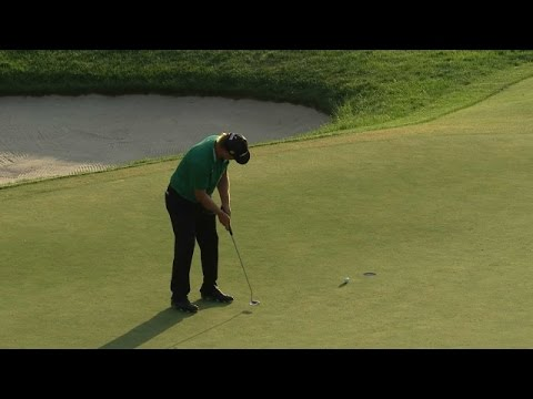 Charley Hoffman's incredible approach sets up eagle at Deutsche Bank