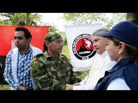 Colombia ELN rebels release hostage on the eve of peace talks