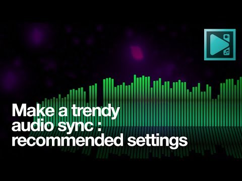 Create a trendy audio sync for free: recommended settings