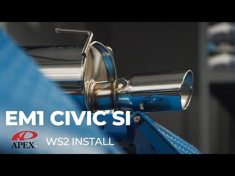 EM1 Civic Si: Apex-i WS2 Exhaust Install