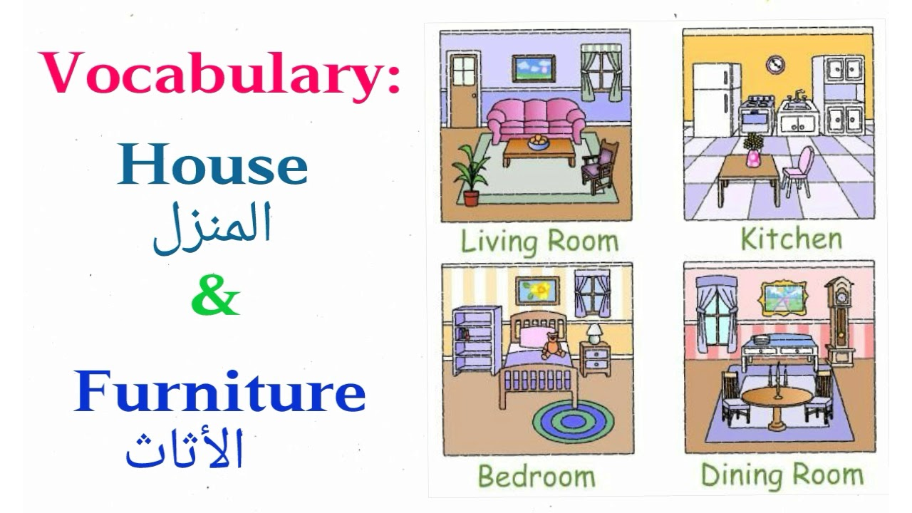 House And Furniture Vocabulary Youtube