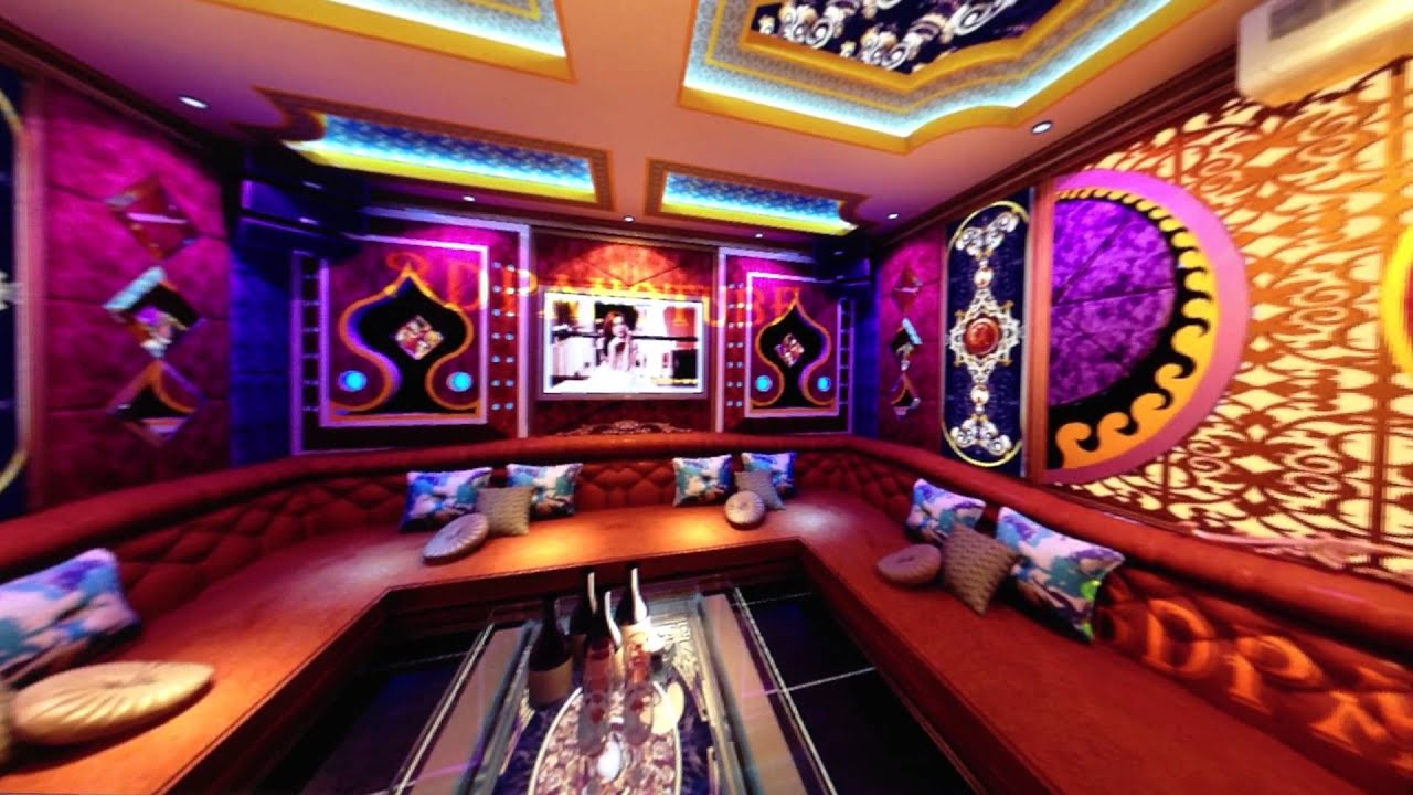 Karaoke room 06 dome arch karaoke youtube for Karaoke room design ideas