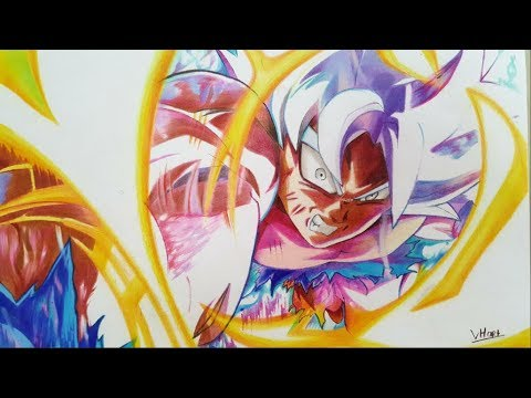 Drawing Goku Mastered Ultra instinct ( Dragonball Super ) || Vh Art