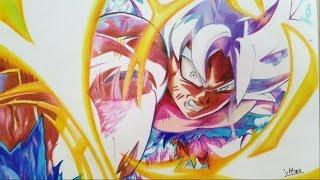 Drawing GOKU Mastered ULTRA INSTINCT-Dragonball Super||Draw by Vh Art