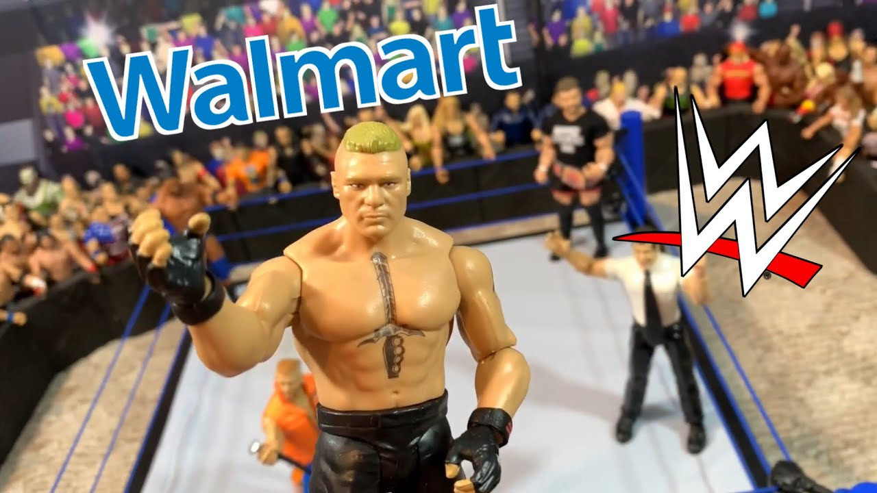 WWE Walmart Toy Shopping - Figure Arena Set Up Reveal for GTS Wrestling Figure Show