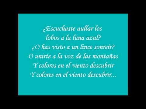 Pocahontas - Colores en el viento (Letra)