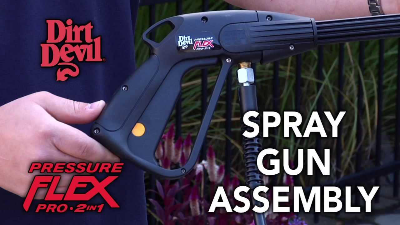 Pressure Washer Gun >> Spray Gun Assembly: Dirt Devil Pressure Flex Pro 2-in-1 Pressure Washer ND40100 - YouTube