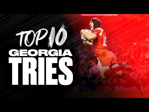 Georgia's Rugby Highlights 🇬🇪 | Top 10 Tries at the Rugby World Cup!