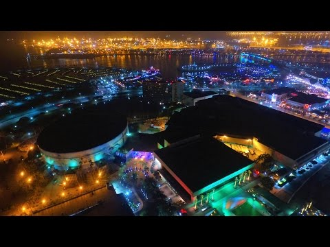 4K QUEEN MARY LONG BEACH & GORGEOUS NIGHT Lights FANTASY FLIGHT