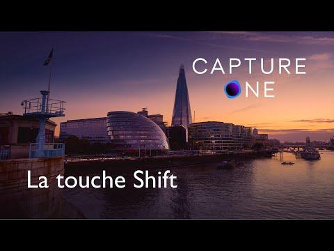 La touche shift dans Capture One Pro