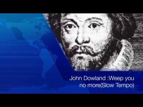 "John Dowland""Weep you no more,sad fountains""(Lute Songs KARAOKE with Lyrics)"