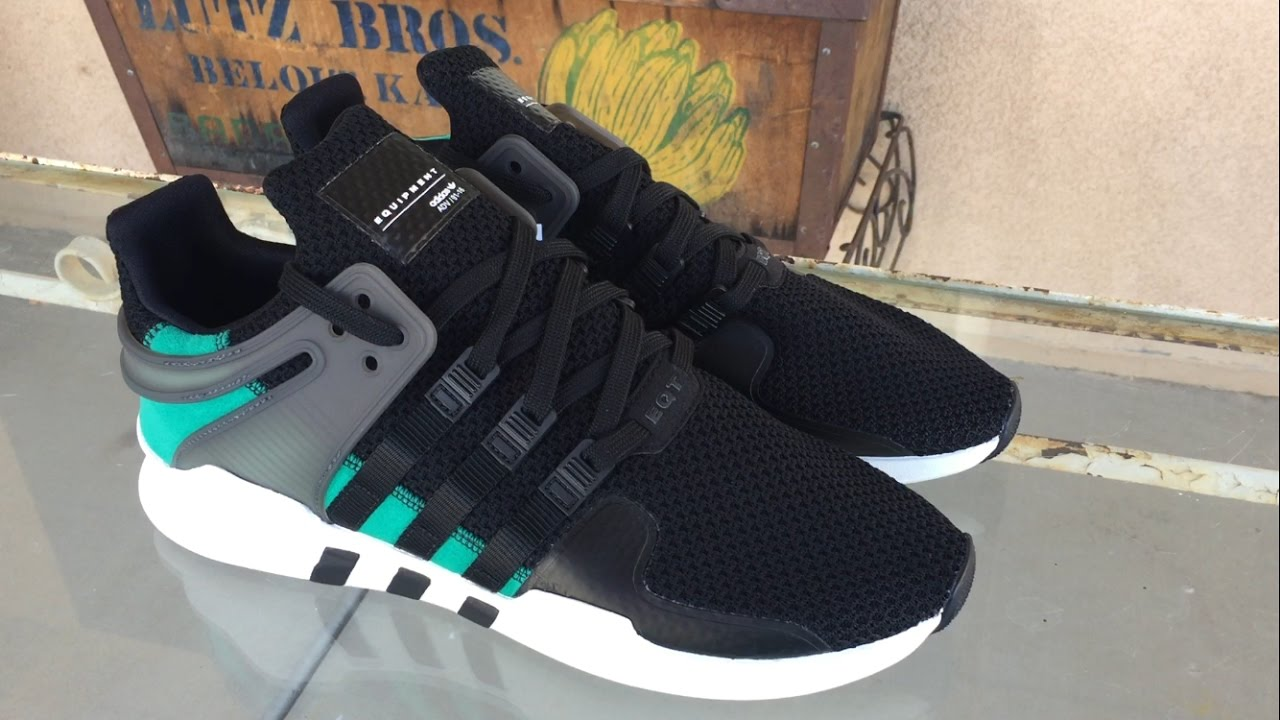 adidas eqt support adv black sub green