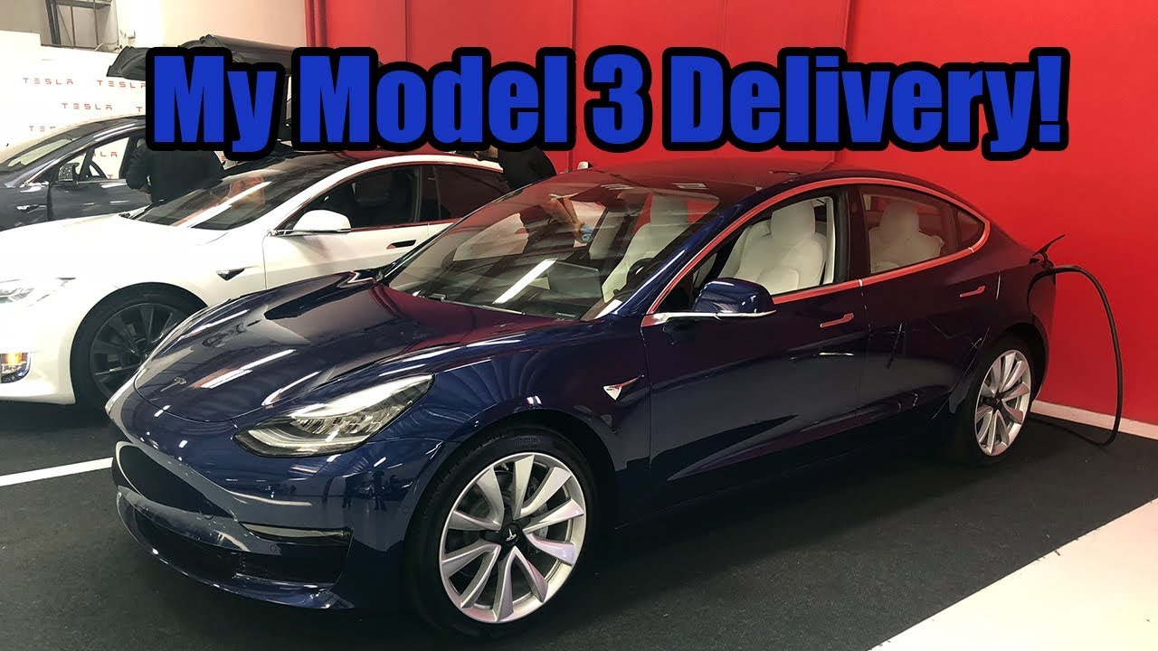 My Tesla Model 3 AWD Delivery! - YouTube