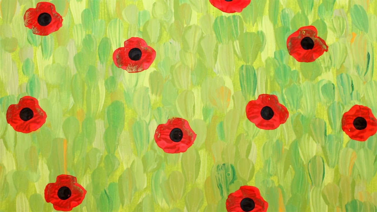 Paint A Field Of Poppies Like Monet Youtube