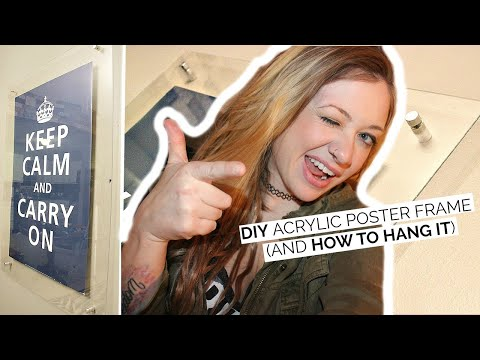 DIY Acrylic Framed Poster + How To Hang Stand Off  Laci Jane