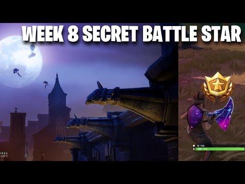 Fortnite Week 8 Secret Battle Star Location, Gothic Battle Star, Loading Screen #8 (Fortnite)