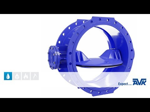 Double eccentric butterfly valves animation from AVK