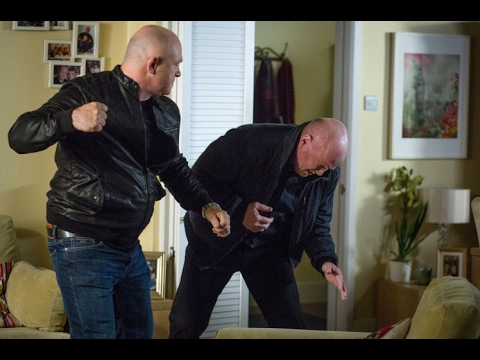 EastEnders - Phil Mitchell Punches Grant Mitchell (17th May 2016)