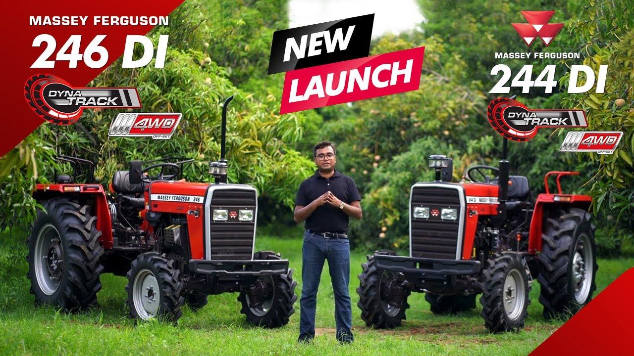 Massey Ferguson 244 + Massey Ferguson 246 DYNATRACK 4WD   Full Tractor Review - Hindi    New Launch