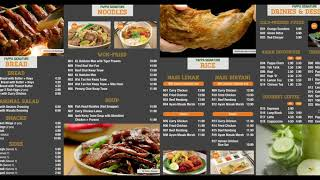 Papparich Combined Menu with Music